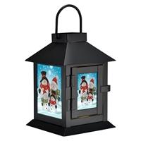 Snowman Family LED Lantern