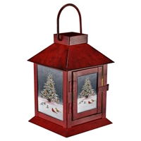 Christmas Tree Bird Gathering LED Lantern