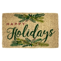 Happy Holidays Coir Mat