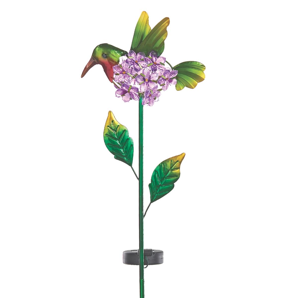 Hummingbird Solar Garden Stake