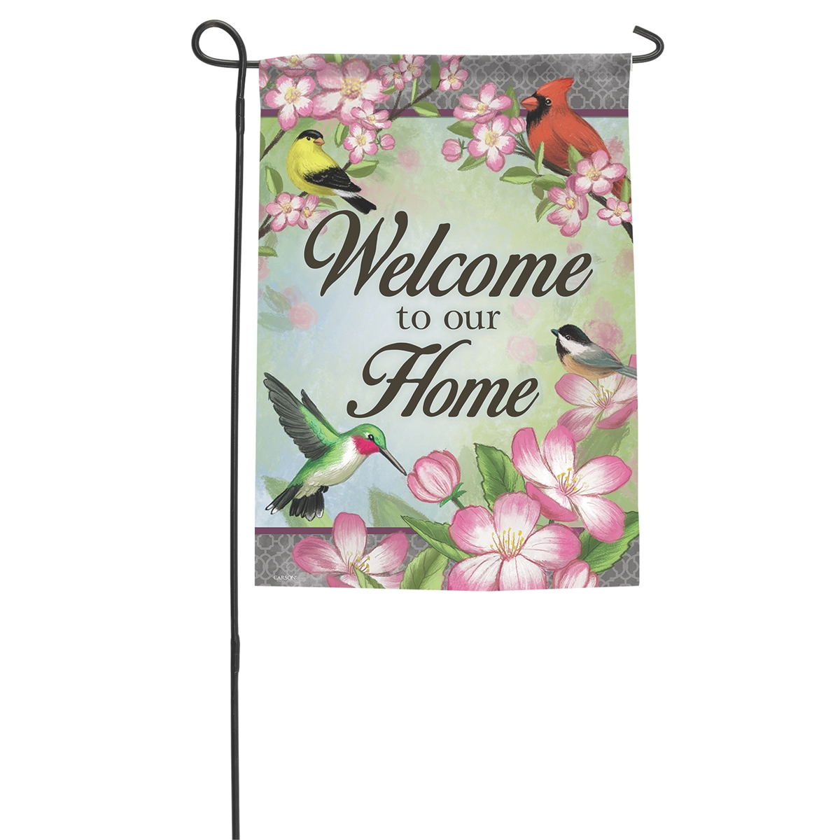 Flowers and Birds Garden Flag