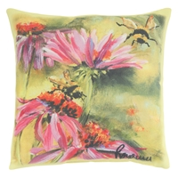 Bee on Coneflower Pillow
