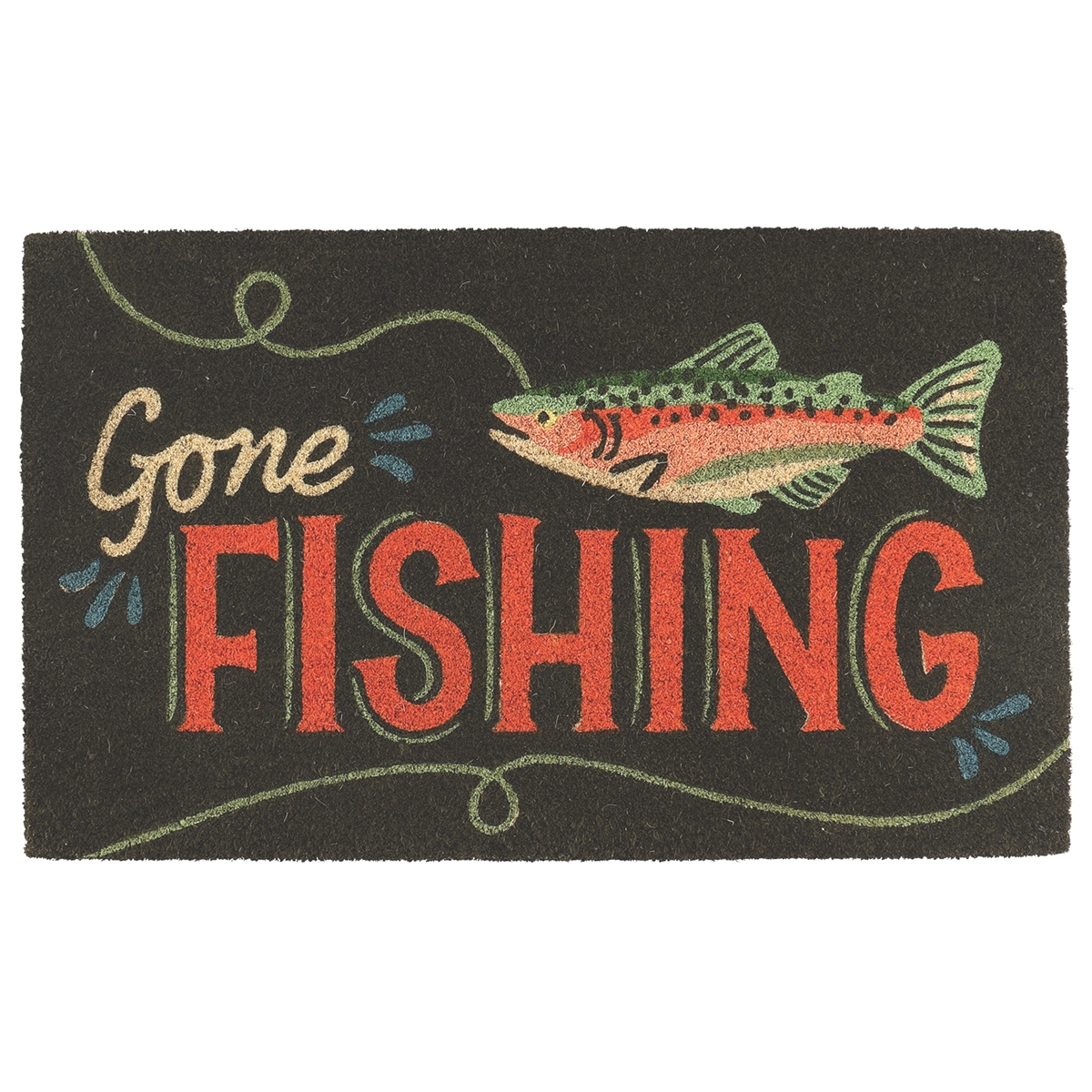 Gone Fishing Coir Mat