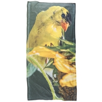 Goldfinch and Sunflower Beach Towel