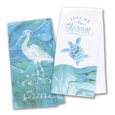 Coastal Tranquility Terry Towel Set