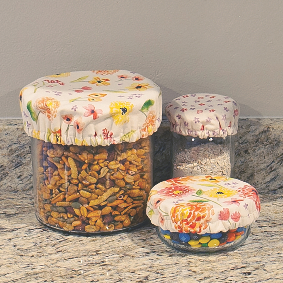 Cottage Floral Lid Covers
