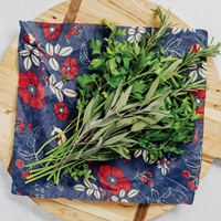 Botanical Blue Reusable Food Wraps