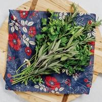 Botanical Blue Reusable Food Wraps