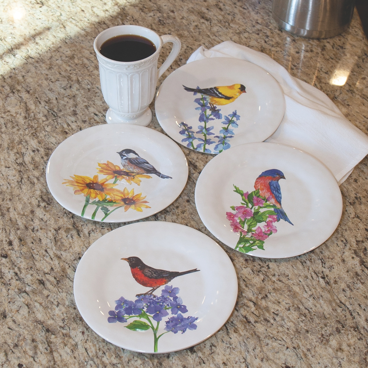 Songbird Salad Plate Set
