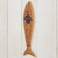 Hanging Fish with Bottle Opener Brown