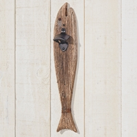 Hanging Fish with Bottle Opener Dark Brown