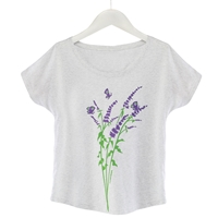 Lavender and Butterflies Tee