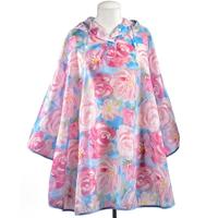 Floral Rain Poncho