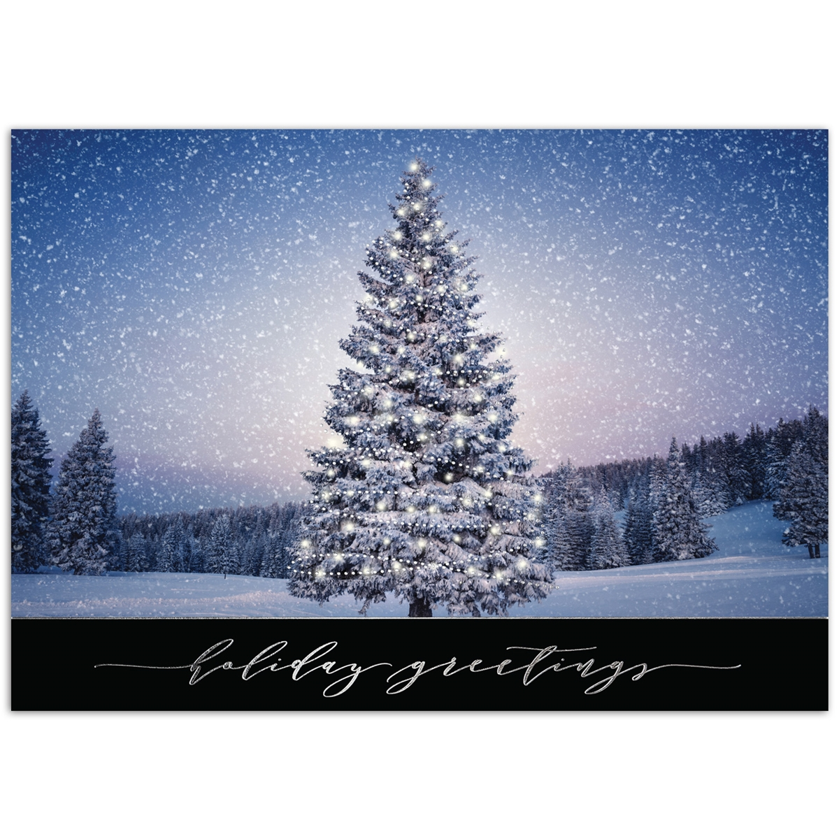 Tree Aglow Holiday Cards