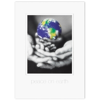 Hands Holding Globe Card
