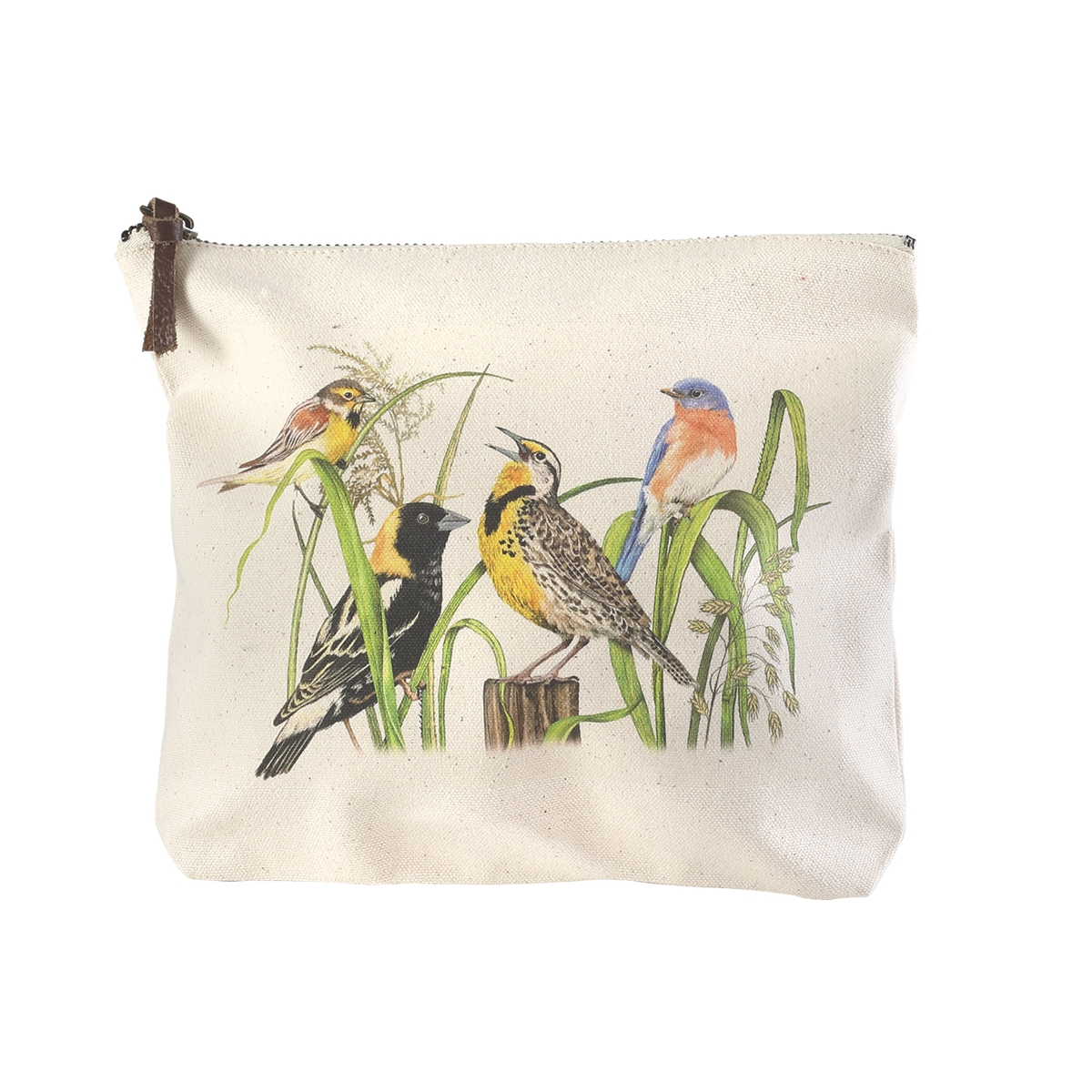 Colorful Birds Zippered Pouch