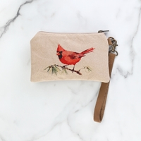 Cardinal Zippered Pouch