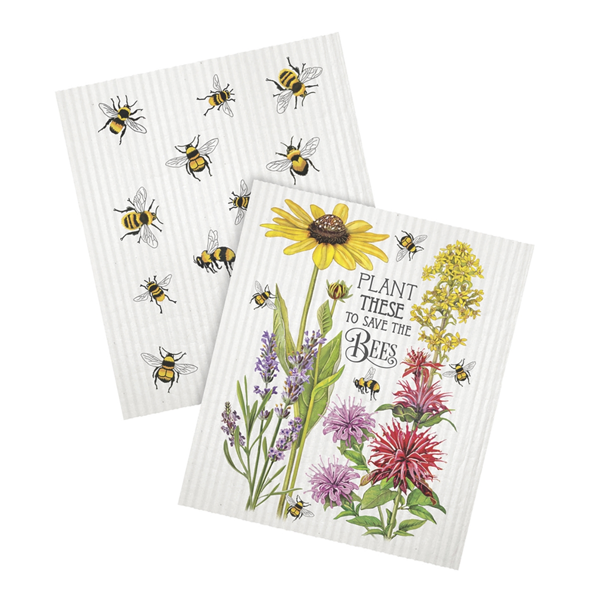Save the Bees Dish Cloth Set
