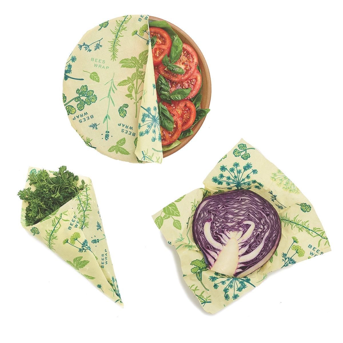 Vegan Herb Garden Reusable Food Wrap