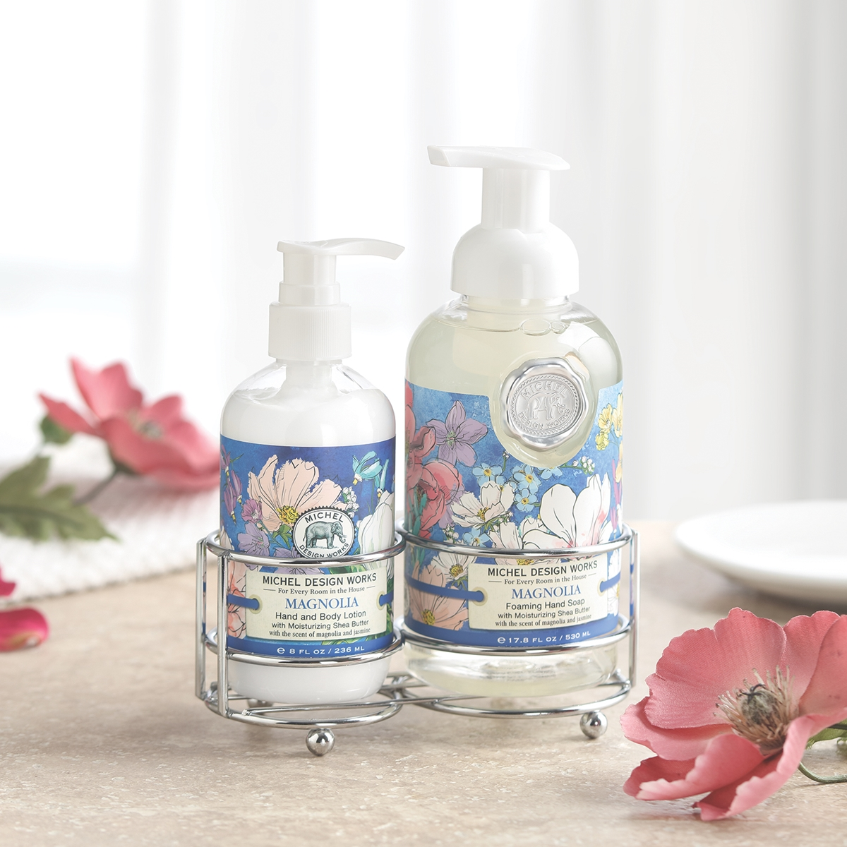 Summer Blossoms Soap and Lotion Caddy