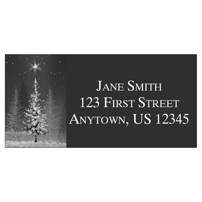 Starry Treeline Address Label