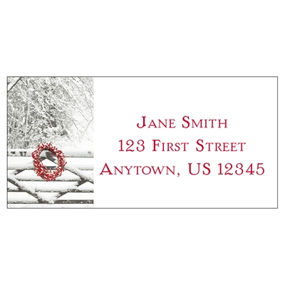 Snowy Gate Address Label