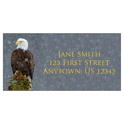 Peaceful Eagle Address Label