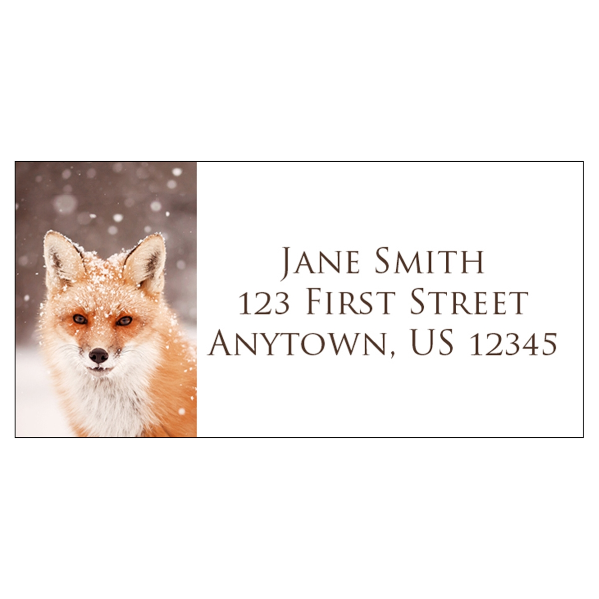 Red Fox in Snow Address Label