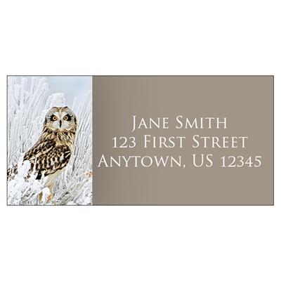 Short-Eared Owl Address Label