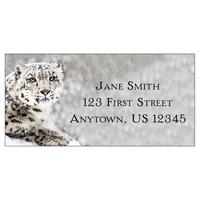Snow Leopard Address Label