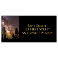 Milky Way Over Trees Address Label