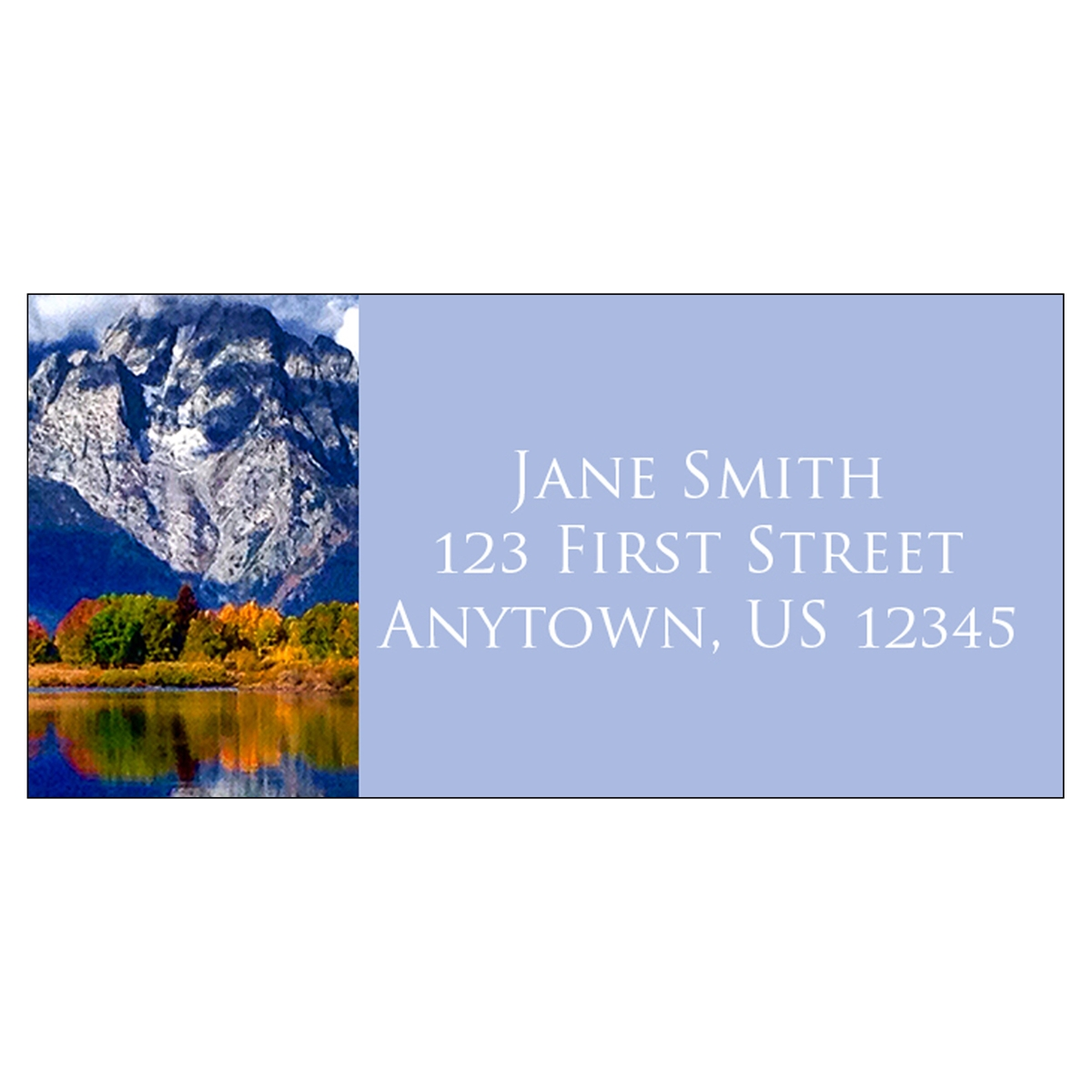 Mount Moran, Grand Teton Address Label