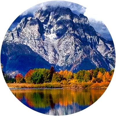 Mount Moran, Grand Teton Envelope Seal