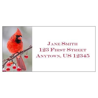 Berry Branch Cardinal Address Label