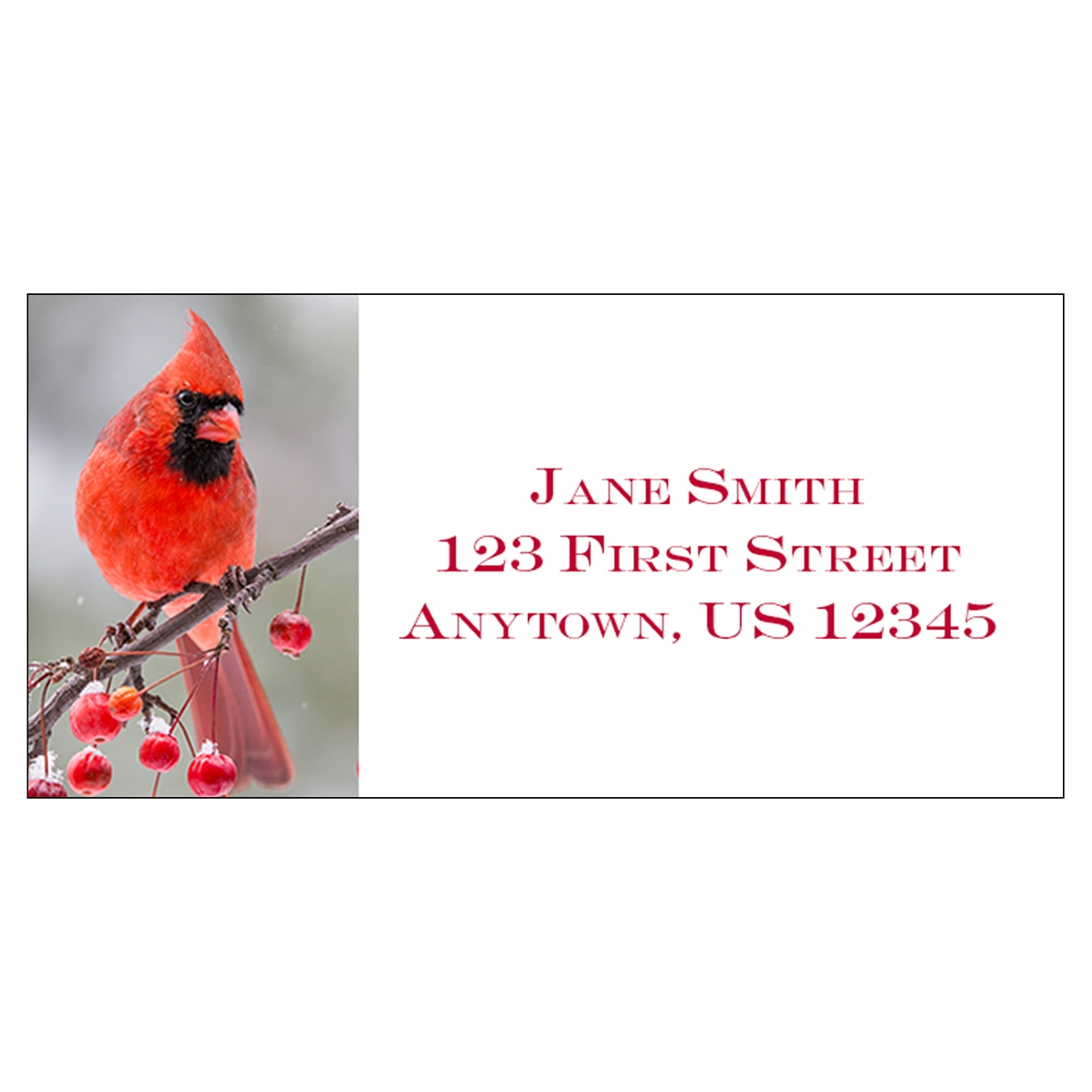 Berry Branch Cardinal Address Label
