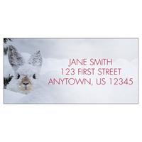 Snowshoe Hare in Moose Print Address Label