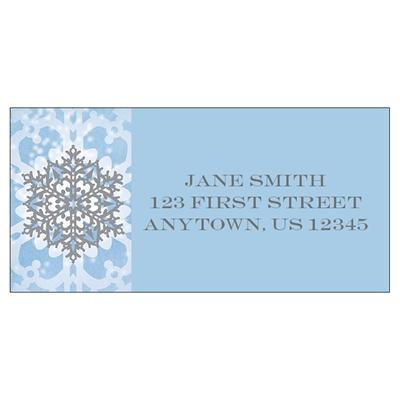 Joy Snowflake Address Label