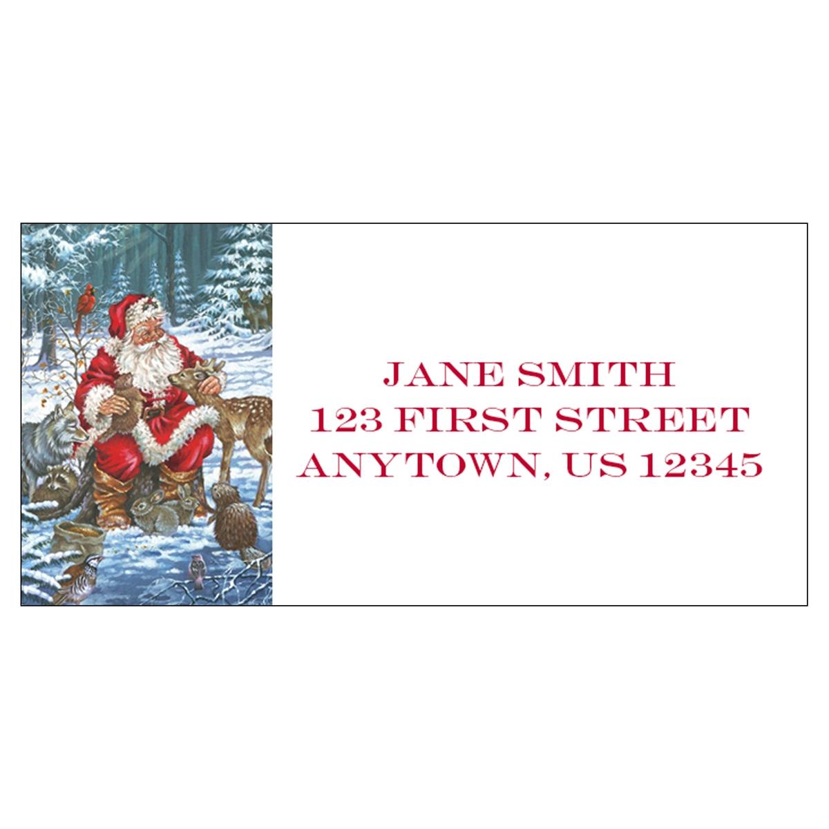 Wildlife Santa Address Label