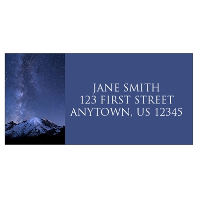 Shooting Stars over Mount Rainier Address Label