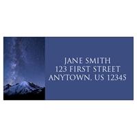 Shooting Stars over Mount Rainier Address Label