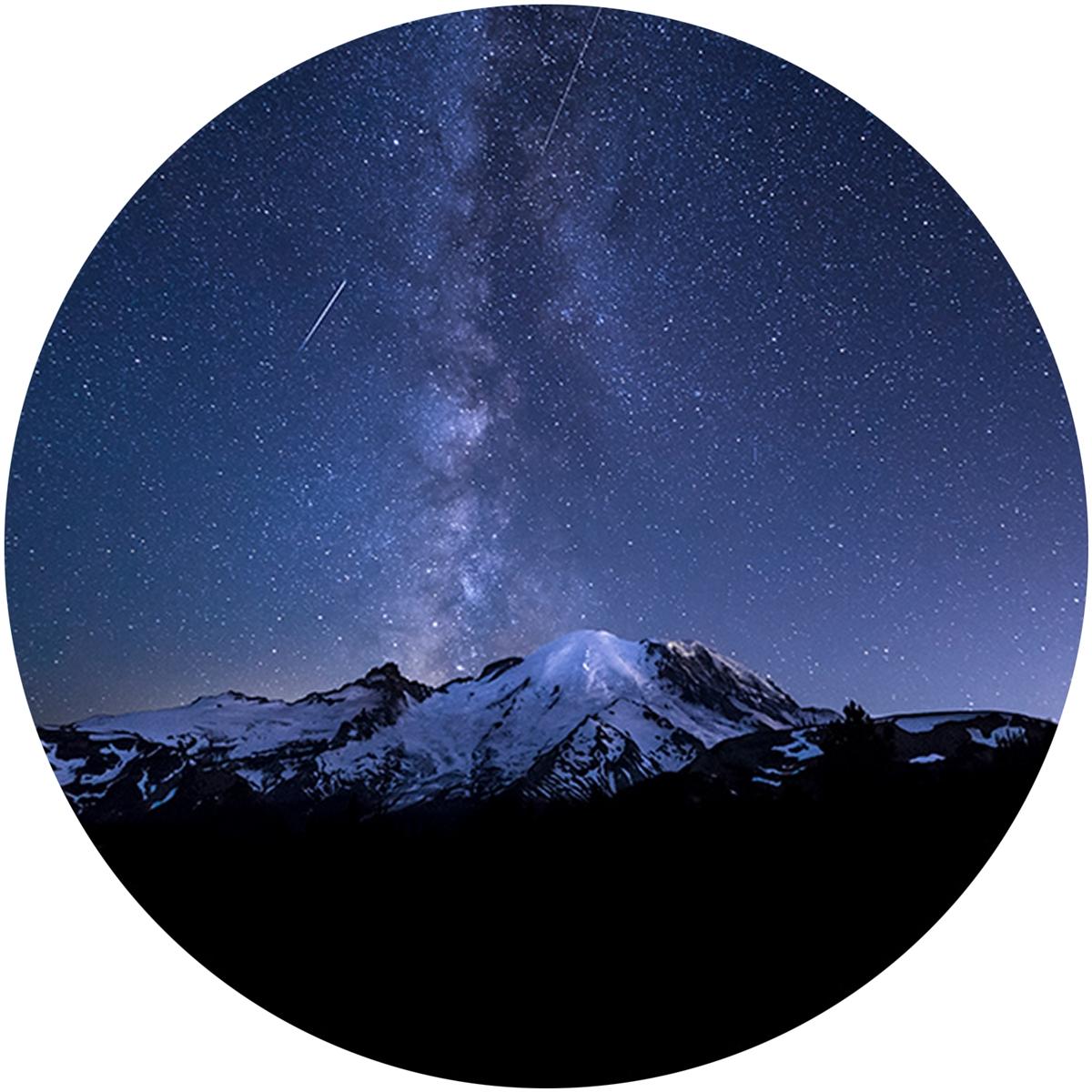 Shooting Stars over Mount Rainier Envelope Seal