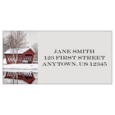 Sparkling Scene Address Label