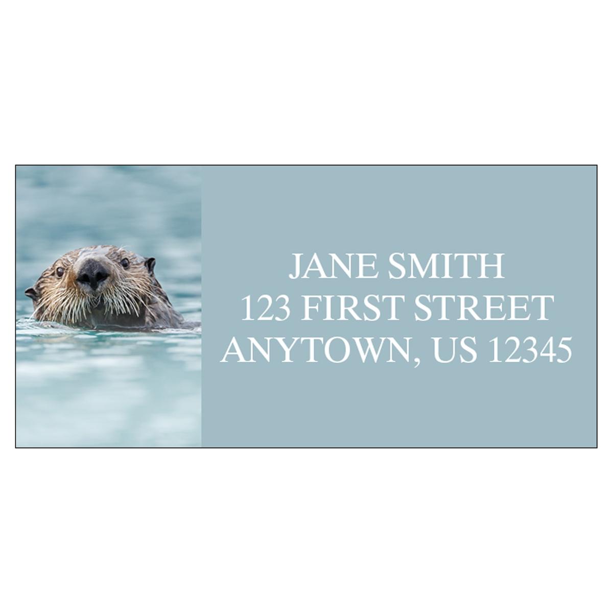 Sea Otter Address Label