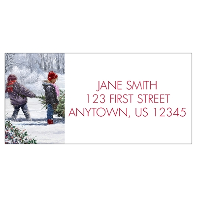 Winter Work Address Label