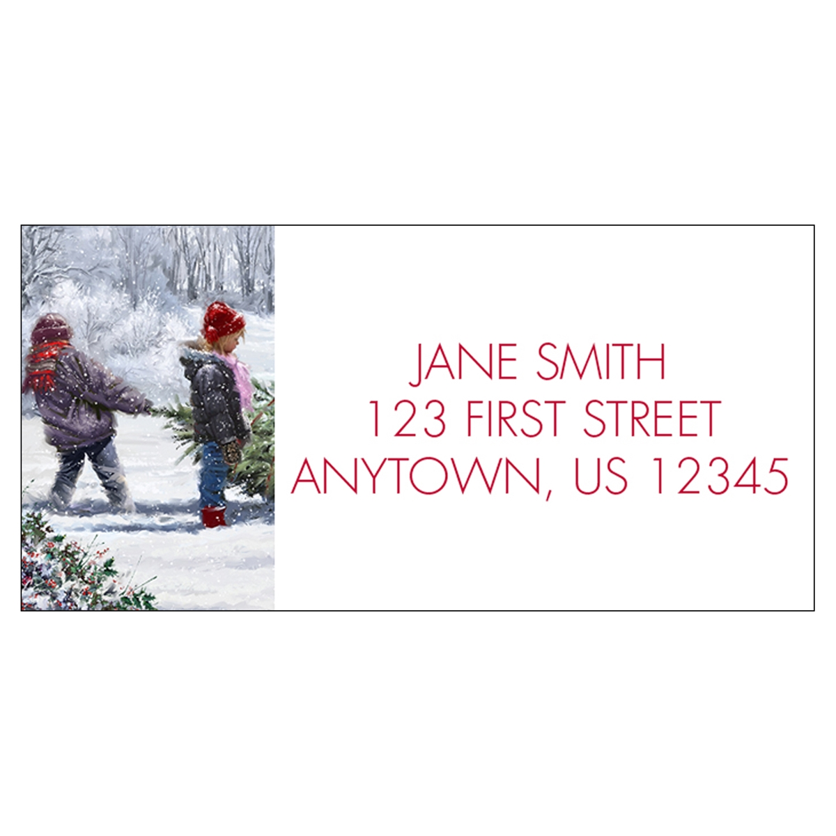 Winter Work Address Label