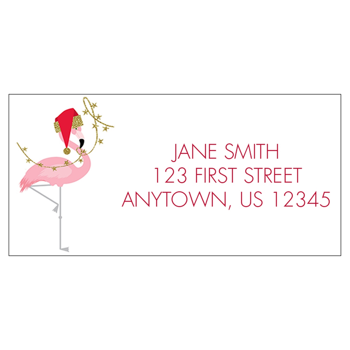 Fashionista Flamingos Address Label