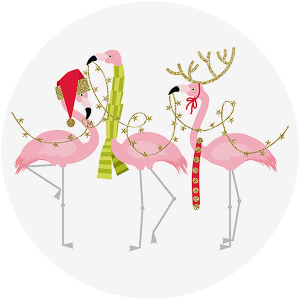 Fashionista Flamingos Envelope Seal