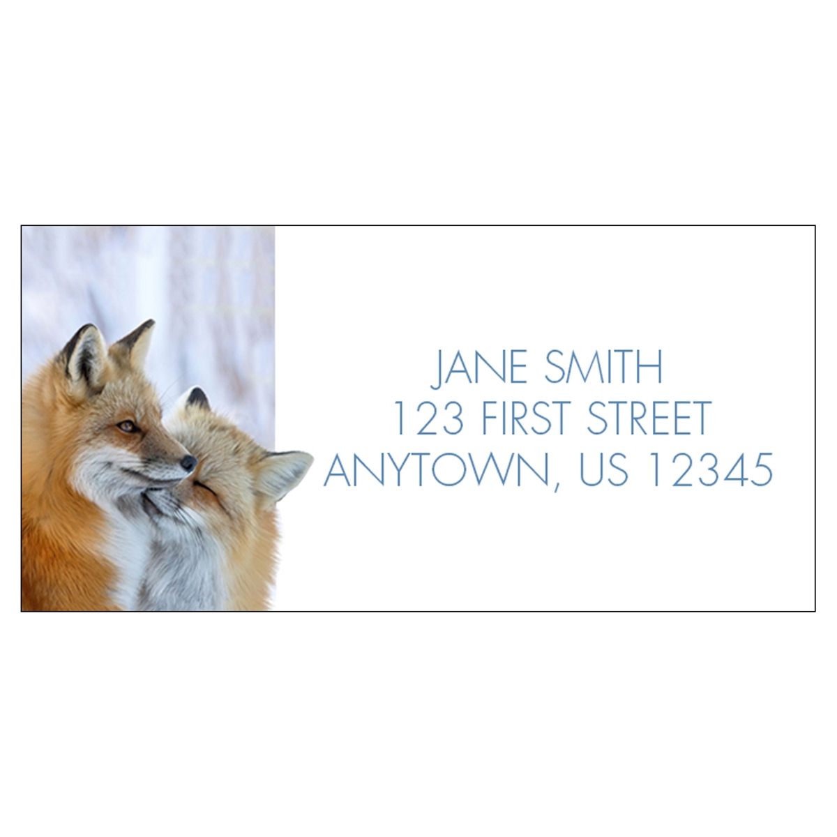 Cuddling Foxes Address Label