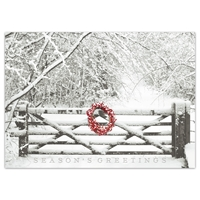 Snowy Gate Holiday Cards