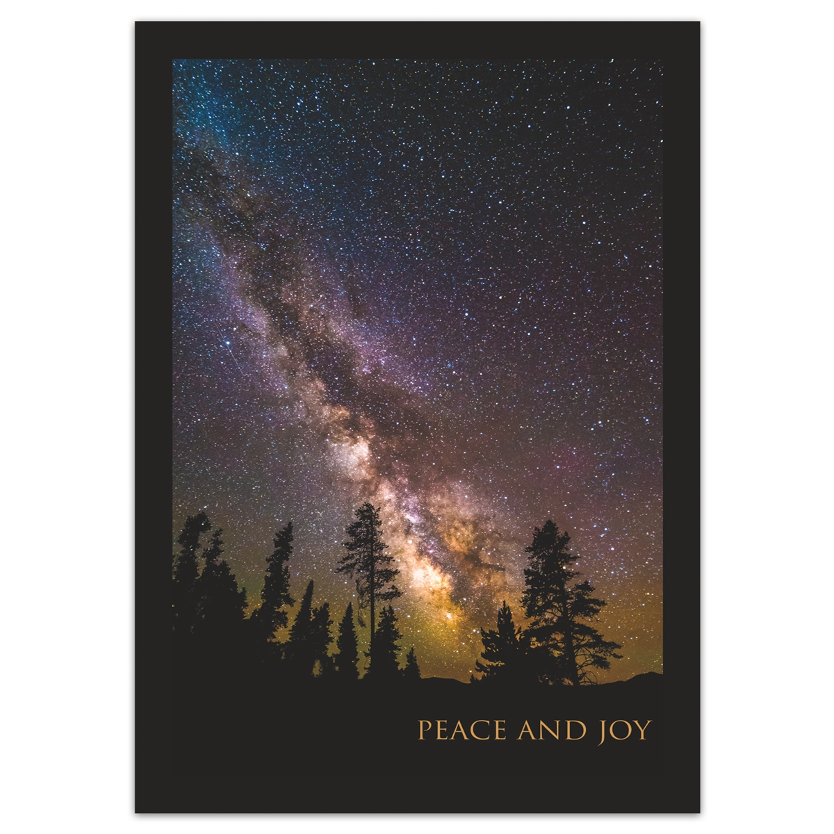 Milky Way Over Trees Holiday Cards